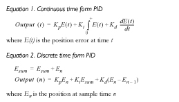 Equations - form PID