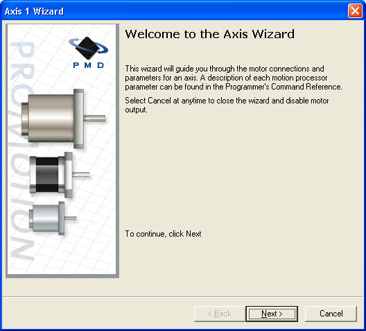 The Multi-axis Setup Wizard